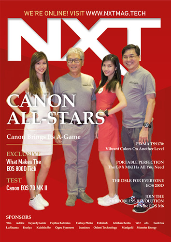 Canon Photomarathon NXT magazine cover mockup with participants
