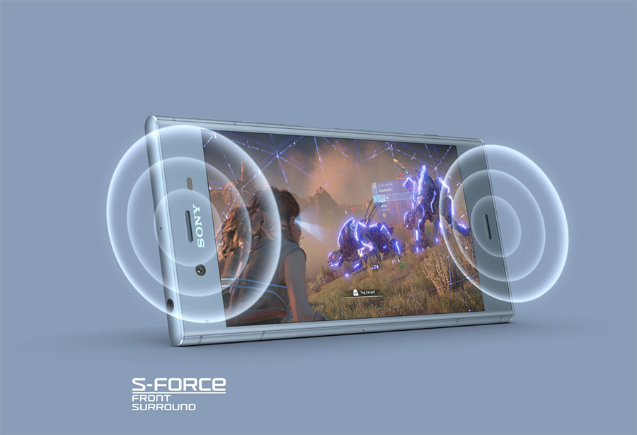 Sony Xperia XZ1 front-facing stereo speakers