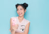 Cute girl using Casio TR M11-