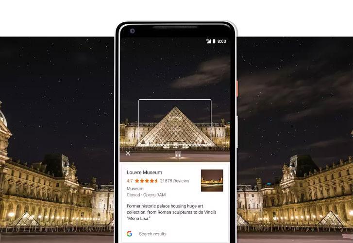 Google Pixel 2 showing Google Lens