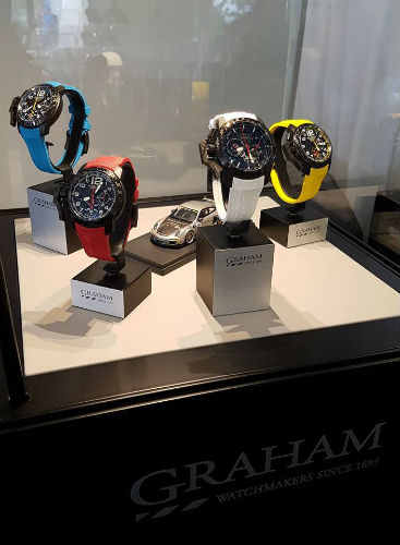 Graham Silverstone RS GMT in blue, red, white, yellow