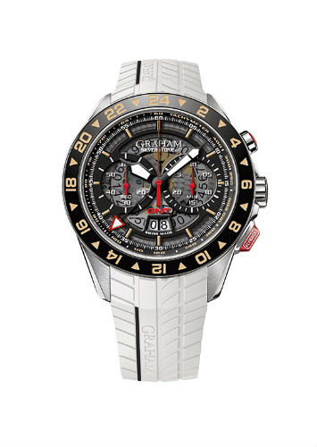 Graham Silverstone RS GMT with rubber strap