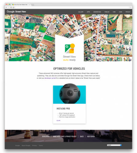 Insta360 Pro Google Street View certification
