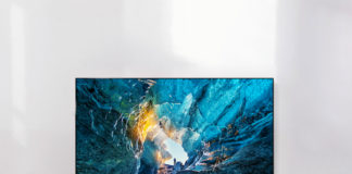 LG 2017 OLED TV on wall