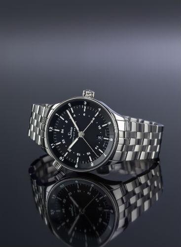 Sinn Spezialuhren Frankfurt World Time Watch 6096 on grey background