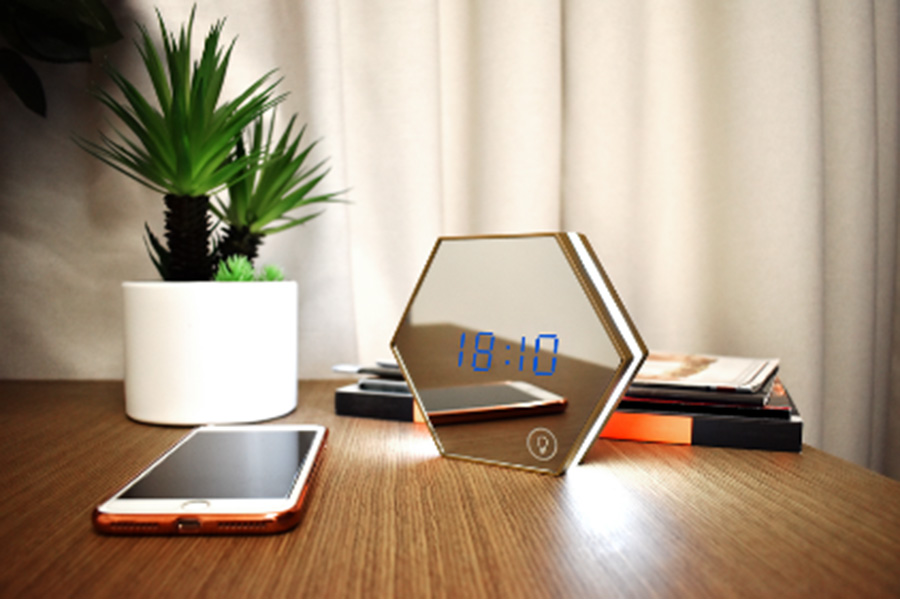 Valore Honeycomb 3-in-1 Multi-functional LED Clock