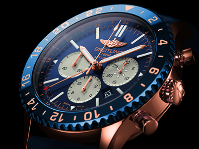 Breitling Chronoliner B04 limited edition close up on dial