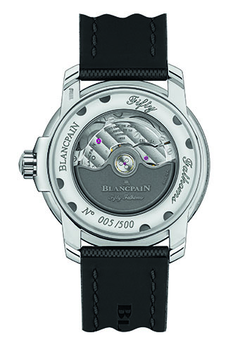 Blancpain Tribute to Fifty Fathoms MIL-SPEC back view