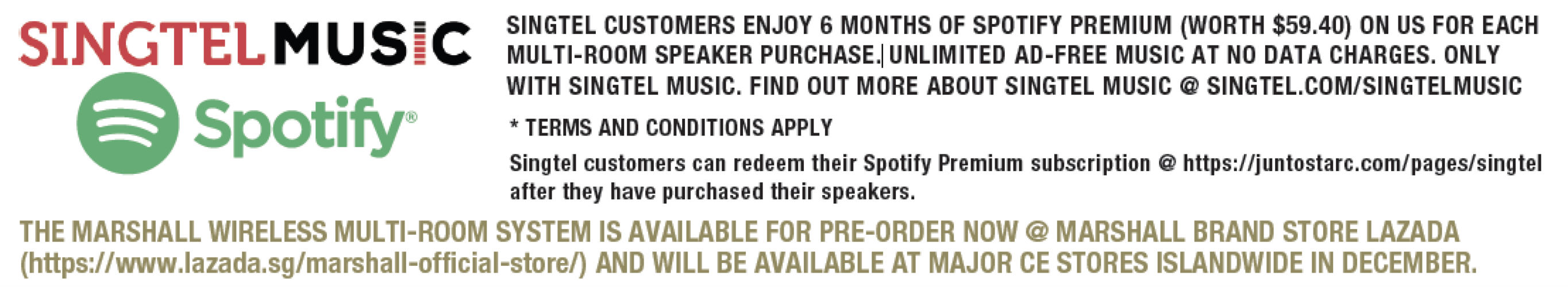 Details on Singtel Music and Spotify promotion