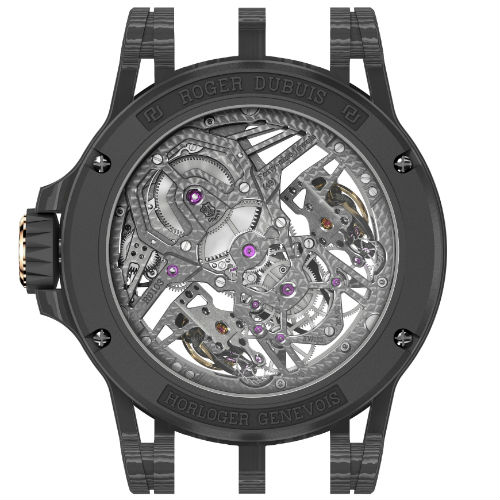 Roger Dubuis Excalibur Aventador S in Pink Gold back