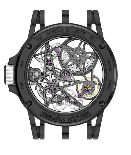 Roger Dubuis Excalibur Spider Pirelli in Black and White