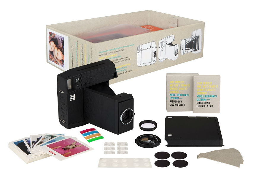 Lomo'Instant Square in black with accessories