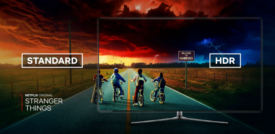 Netflix's Stranger Things HDR comparison to normal