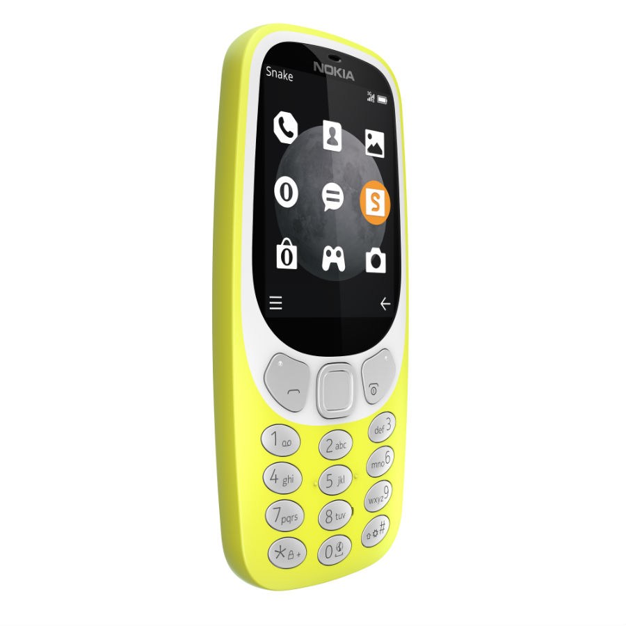 Nokia 3310 3G in yellow variant
