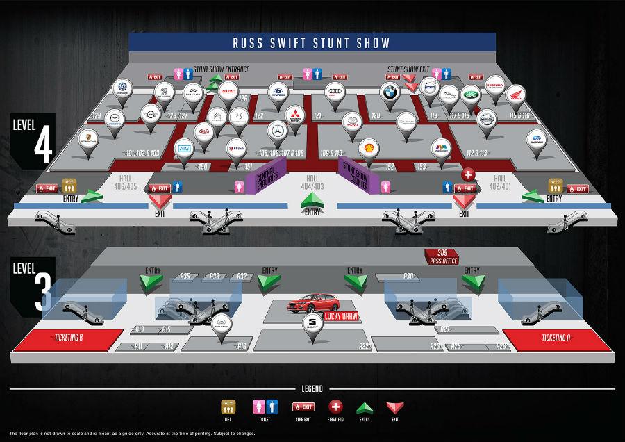 Singapore Motorshow 2018 floor plan