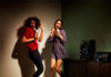 Girls enjoying karaoke on the MHD M40D
