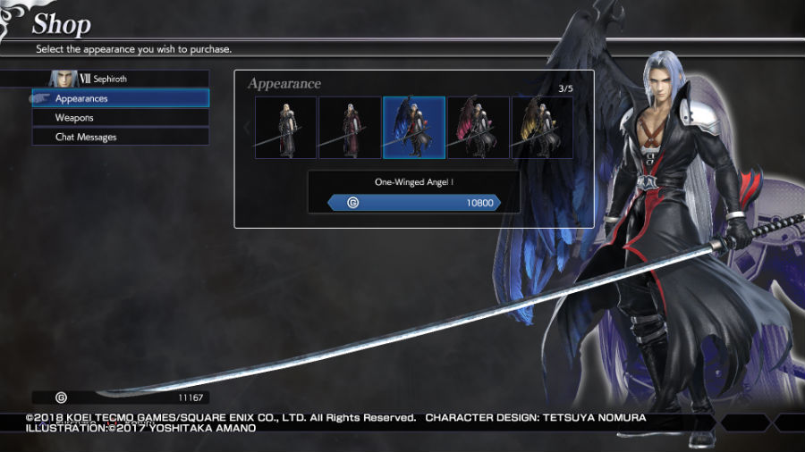 Sephiroth in Dissidia Final Fantasy NT