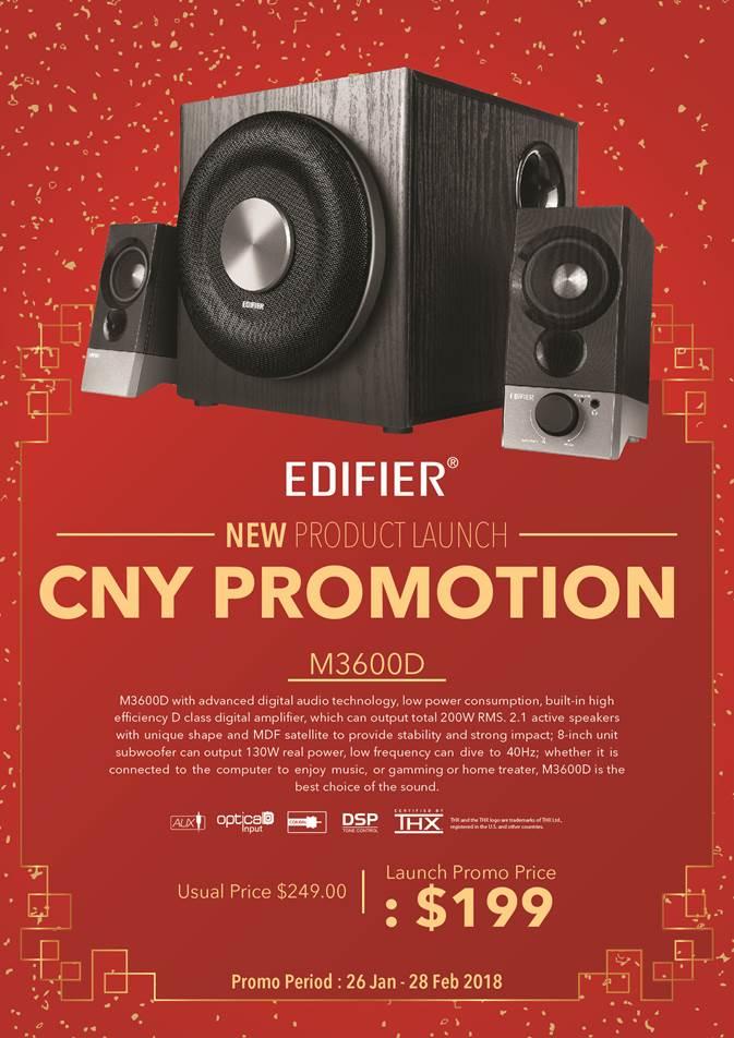 Edifier M3600D CNY promotion