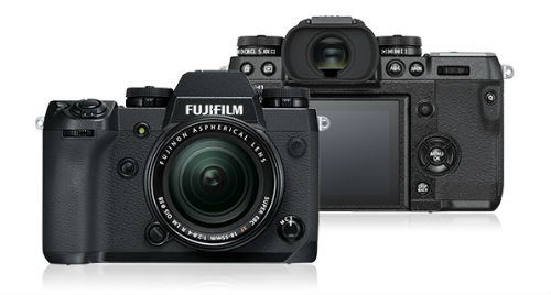 Fujifilm X-H1 front and back view