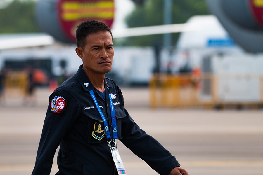 Man from Royal Thai Airforce