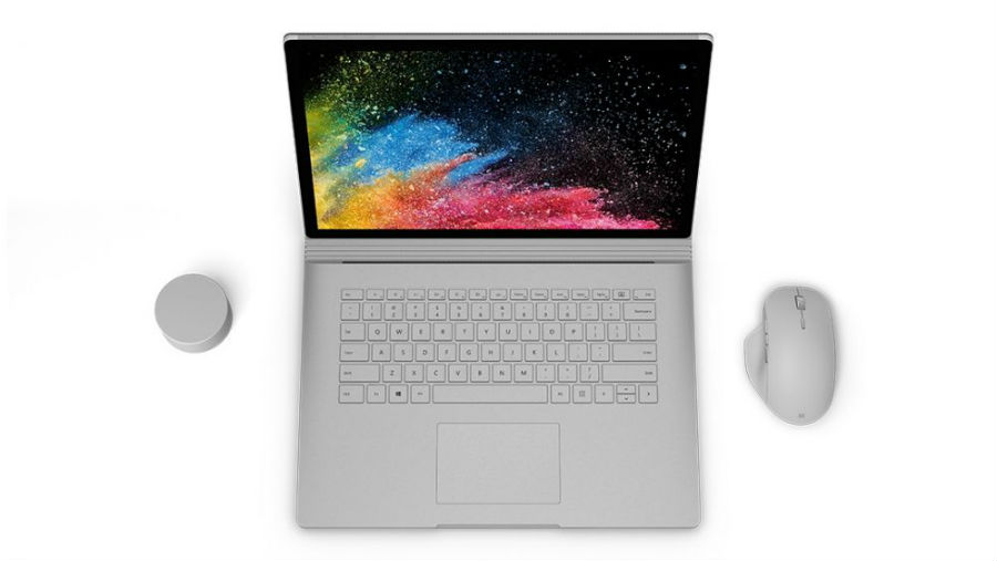 Surface Book 2 top down view
