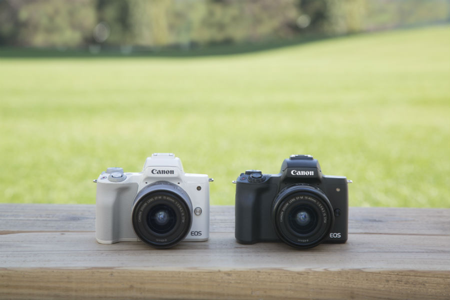 Canon EOS M50 in black and white