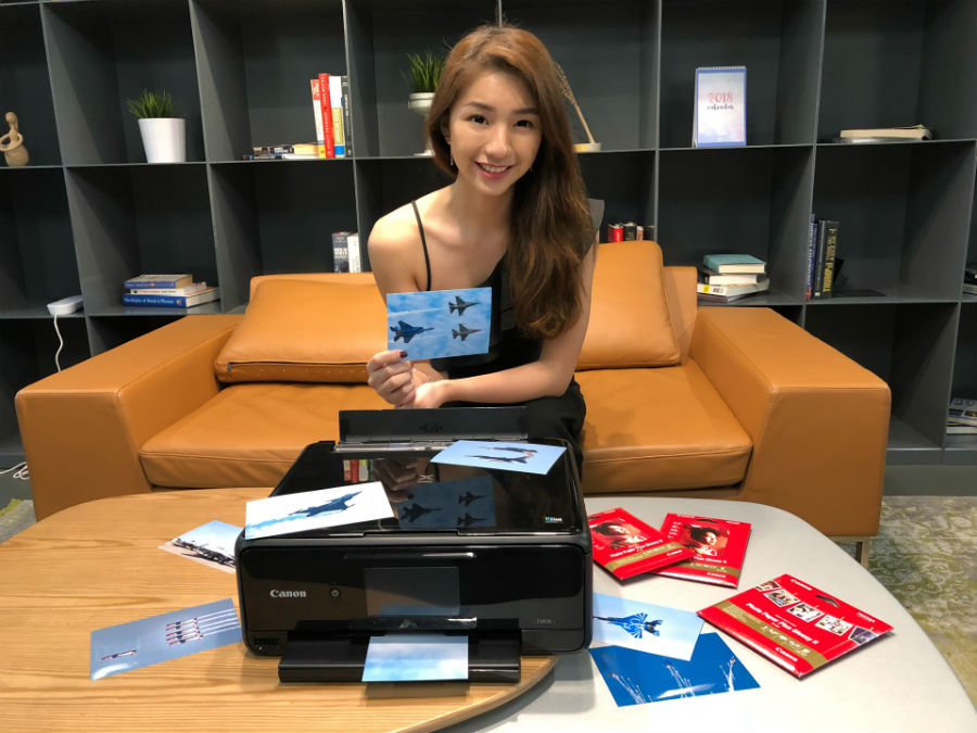 Vanessa with Canon PIXMA TS8170 and printed photos
