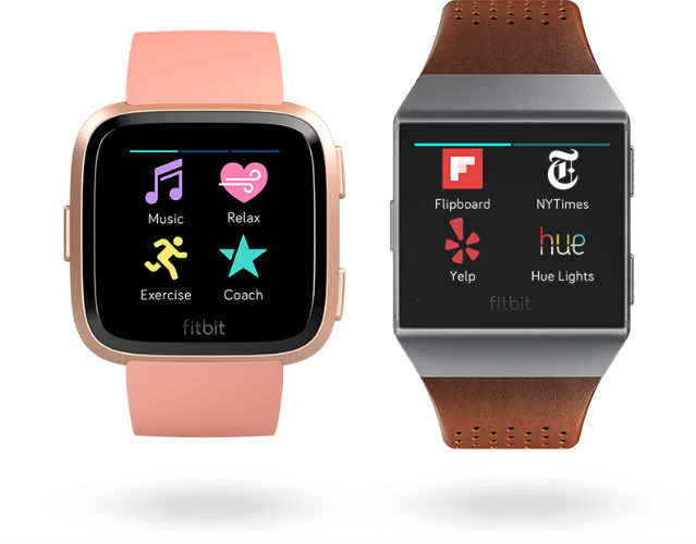 Fitbit Versa in different straps