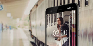 Girl waiting for train in Nokia 2