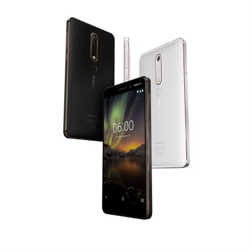 Nokia 6 in both white and black versions