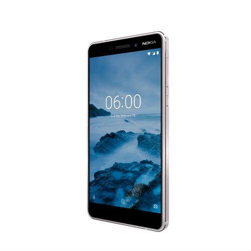 Nokia 6 in white/iron