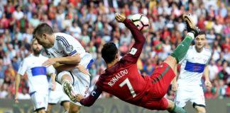 Cristiano Ronaldo scoring the opening goal
