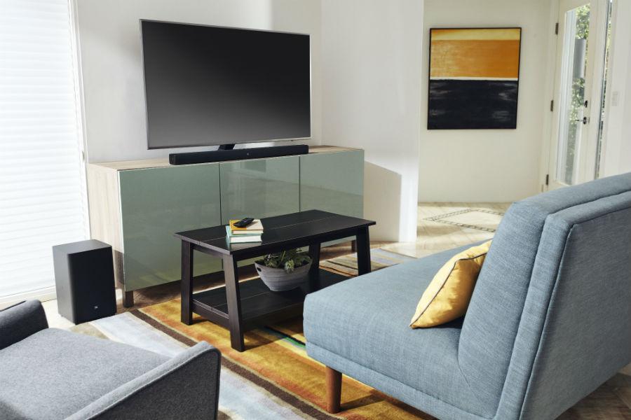 JBL Bar 2.1 in living room