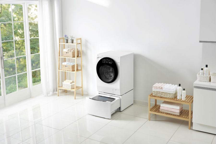 LG TWINWash in laundry room setting
