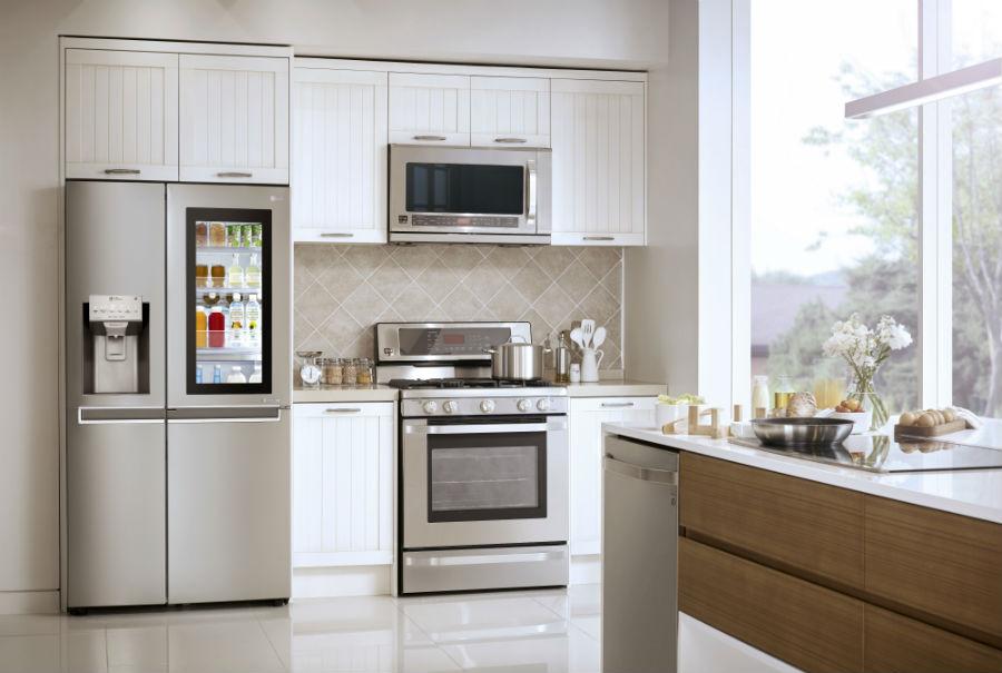 LG Side-by-Side Refrigerator With InstaView Door-in-Door in kitchen