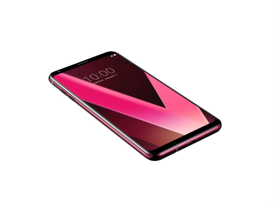 LG V30+ in raspberry rose