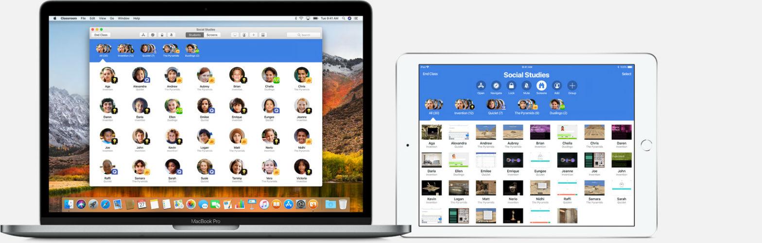 Apple Classroom app on Mac