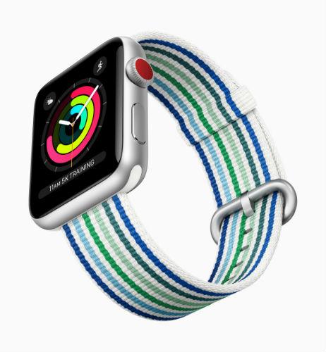 Apple Watch Band Woven Nylon in blue stripe