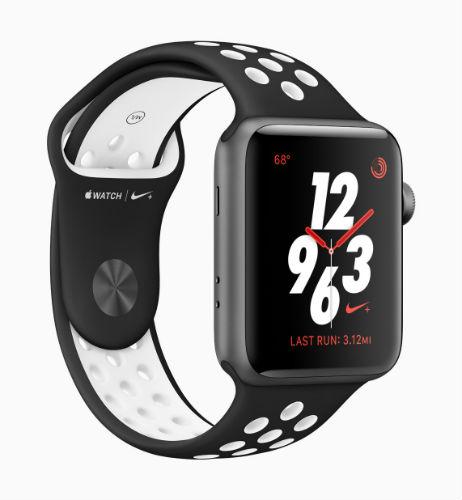 Apple Watch Nike Sport Loop in Black/Pure platinum