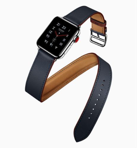 Apple Watch Hermes double tour in indigo