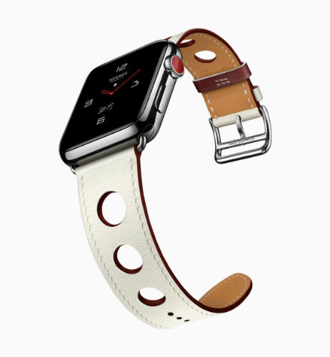 Apple Watch Hermes in single tour rallye in blanc