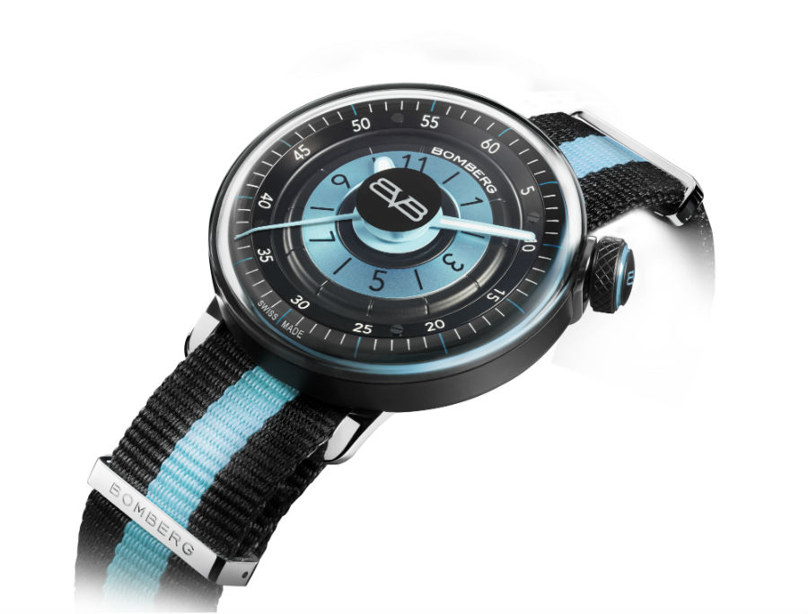 Bomberg BB-01 in white cobra lady blue