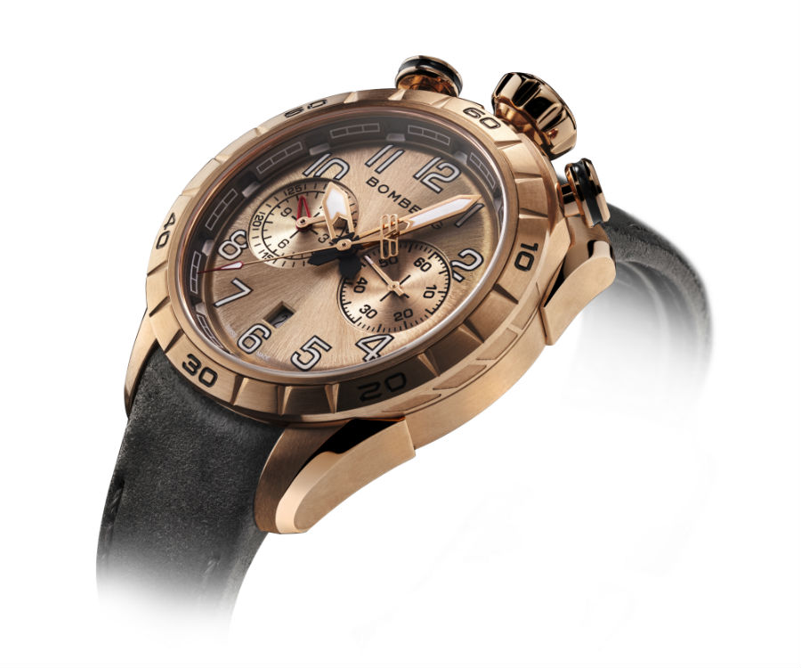 Bomberg BB-68 in gold racer