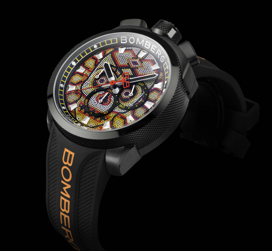 Bomberg BB-68 in skull pearl orange