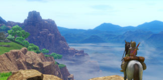 Dragon Quest XI: Echoes Of An Elusive Age MC on a horse staring out across cliffs