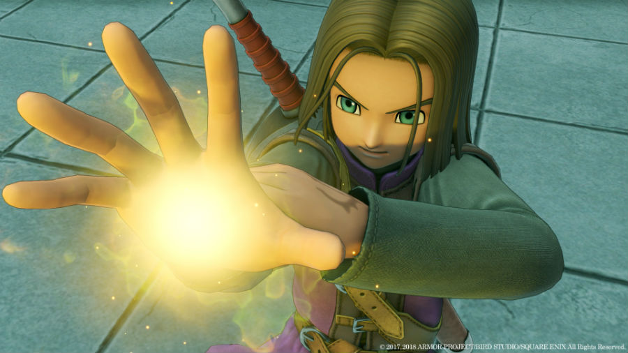 Dragon Quest XI: Echoes Of An Elusive Age playable character using powers