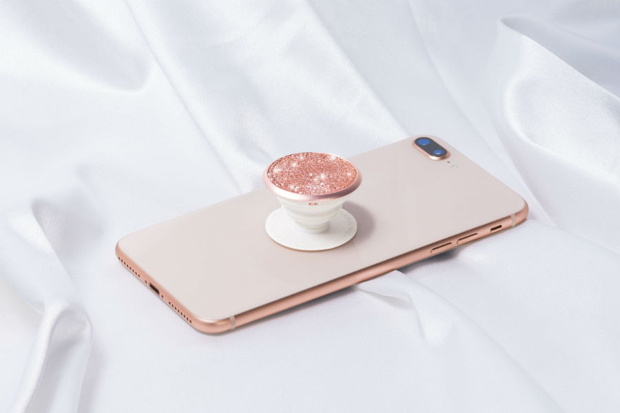 PopSocket Grip Crystals From Swarovski collcetion in rose gold