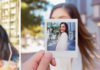 Woman taking photo with Fujifilm instax SQ6