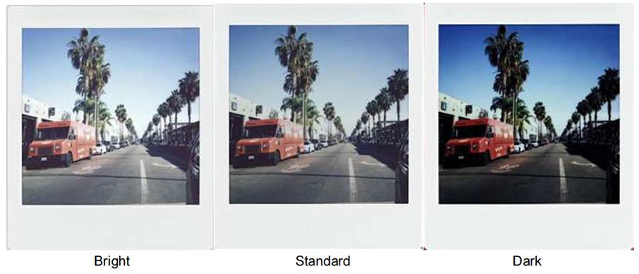 Fujifilm instax SQ6 exposure adjustment