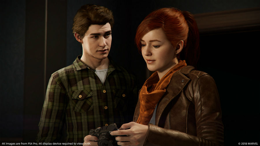 Peter Parker talking to Mary-Jane